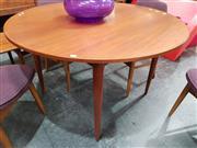 Sale 8782 - Lot 1044 - Vintage Round Teak Dining Table