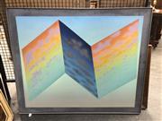 Sale 8811 - Lot 2045 - 2 Works: Fold Up Sky, canvas & Still Life acrylic on canvas