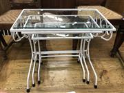 Sale 8817 - Lot 1095 - Nest of 3 Garden Tables