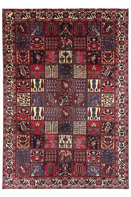 Sale 9124C - Lot 40 - Persian Fine Bakhtiar Garden Design RuG, 220x315cm, Handspun Wool
