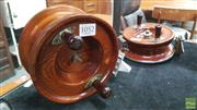 Sale 8395 - Lot 1052 - 2 Vintage Timber Alvey Fishing Reels