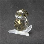 Sale 8412B - Lot 87 - Swarovski Crystal Owl on Branch with Box - Height 4cm