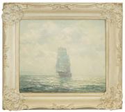 Sale 8449A - Lot 566 - John Allcot (1888 - 1973) - Channel Haze 24 x 29cm