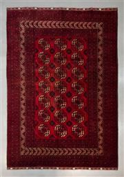 Sale 8493C - Lot 10 - Vintage Afghan Qunduzi (approx 5 y.o) 300cm x 200cm