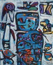 Sale 8504 - Lot 524 - Judi Singleton (1963 - ) - Blue Madonna, 2002 112 x 91.5cm