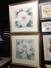 Sale 8622 - Lot 2121 - 2 Floral Decorative Prints 48.5 x 48.5cm