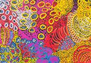 Sale 8733A - Lot 5016 - Eileen Stevens (1915 - 2008) - Wati Kutjara, 2007 100 x 143cm (stretched and ready to hang)