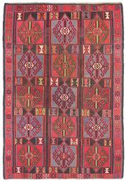 Sale 8725C - Lot 1 - A Fine Vintage Turkish Kilim Carpet, Hand-knotted Wool, 284x196cm, RRP $2900