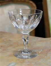 Sale 8746 - Lot 1094 - Fifteen Waterford Lismore Patterned stemmed crystal champagne coupes, H x 12.5cm,  some rim chips.
