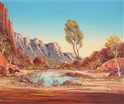 Sale 8819 - Lot 2011 - Henk Guth (1921 - 2003) - Park of Ormiston Gorge, 1974 49 x 59cm