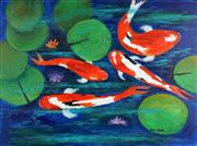 Sale 8836 - Lot 2037 - Greg Lipman (1938 - ) - Koi Colour 76 x 101.4cm