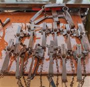 Sale 8984W - Lot 600 - A Fox trap by SideBothams together with a dozen rabbit traps
