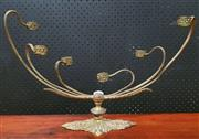 Sale 9026 - Lot 1014 - Gilt 6 Prong Candle Holder on Floral Themed Base (H:26 L:41cm)