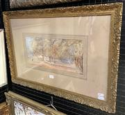 Sale 9011 - Lot 2039 - Artist Unknown The Avenue, Canada, 1906, watercolour, frame: 43 x 62 cm, description verso -