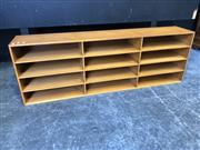 Sale 9034 - Lot 1091 - Plywood Filing Unit (H:45 W:133 D:24cm)