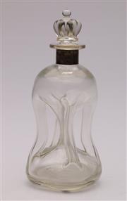 Sale 9052 - Lot 40 - Holmegaard Kluk kluk decanter with Danish sterling silver collar by Black Starr & Gorham (H26.5cm)