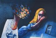 Sale 9072A - Lot 5029 - Charles Blackman (1928 - 2018) - Dreaming Alice 66 x 96 cm (frameL 100 x 126 cm)