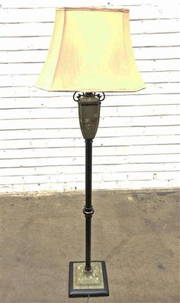 Sale 9121 - Lot 1017 - Painted floor lamp with an urn form top, needs rewiring (h:148cm)