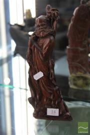 Sale 8285 - Lot 14 - Horn Figure of an Elder