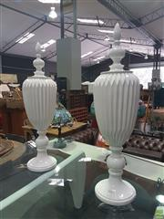 Sale 8648C - Lot 1034 - Pair of Decorative Lidded Vessels