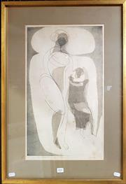 Sale 8678 - Lot 2047 - Artist Unknown - El Sueno, etching ed.10/25 (AF), 62.5 x 47.5 (frame size),