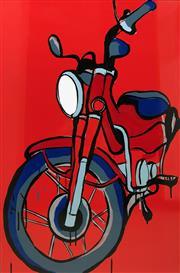 Sale 8723A - Lot 5027 - Jasper Knight (1978 - ) - Honda CT110P 90 x 60cm