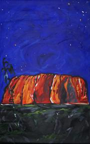 Sale 8836 - Lot 2093A - Artist Unknown - Uluru at Night 120.5 x 75cm