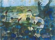 Sale 8901 - Lot 526 - John Olsen (1928 - ) - Waterbirds, 1983 80.6 x 107 cm
