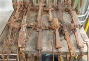 Sale 8984W - Lot 601 - A dozen iron rabbit traps.