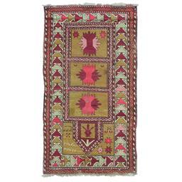 Sale 9124C - Lot 42 - Antique Caucasian Rug, 80x150cm, Handspun Wool