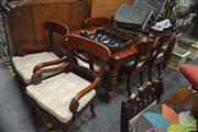 Sale 8341 - Lot 1082 - Timber Nine Piece Dining Suite
