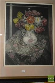 Sale 8464 - Lot 2053 - Richard Bawden (1936 - ) - Fadima Roses 53 x 41cm