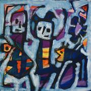 Sale 8504 - Lot 583 - Judi Singleton (1963 - ) - Dancing Girls 40.5 x 40.5cm