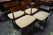 Sale 8550 - Lot 1061 - Set of Four G-Plan Koford Larson Teak Dining Chairs