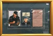 Sale 8863S - Lot 35 - Greg Norman Signed PGA Collage, in frame
