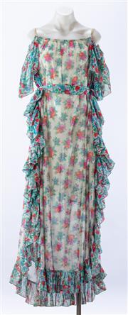 Sale 8910F - Lot 85 - A vintage floral silk sundress, approx size 10/12