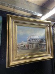 Sale 8914 - Lot 2012 - Max Boyd - Corner House, Paddington oil on board, 48 x 56cm, signed