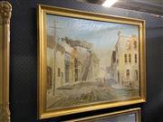 Sale 8978 - Lot 2013 - Clinton A Residential Sydney Street Scene acrylic on board 65 x 80cm (frame) signed
