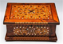 Sale 9138 - Lot 42 - Australian Specimen Timber Jewellery Box (H:13cm W:29cm D:21.5cm)
