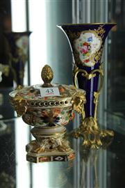 Sale 8327 - Lot 43 - Continental Trumpet Vase in Brass Base & an English Potpourri Dish (AF)
