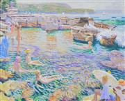 Sale 8363 - Lot 517 - Patrick Russell (XX - ) - At the Beach 85 x 106cm