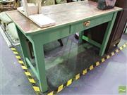 Sale 8424 - Lot 1020 - Rustic Single Drawer Hall Table