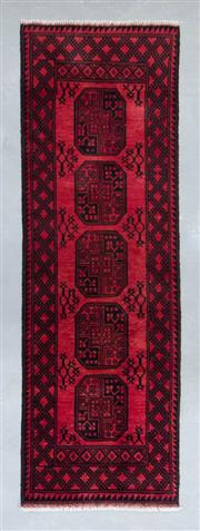 Sale 8480C - Lot 65 - Afghan Turkman Runner 250cm x 80cm