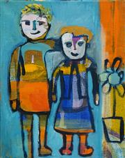 Sale 8504 - Lot 503 - Judi Singleton (1963 - ) - Sisters 49 x 39.5cm