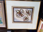 Sale 8587 - Lot 2071 - Indinga - Crayfish, gouache, 44 x 46cm, signed lower right