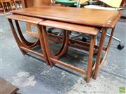 Sale 8625 - Lot 1040 - G-Plan Teak Nest of Three Tables (W: 99cm)