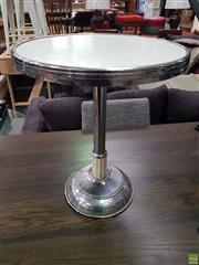 Sale 8637 - Lot 1083 - Chrome Base Smokers Table