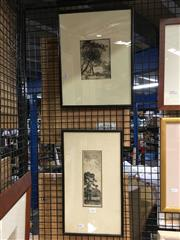 Sale 8752 - Lot 2070 - 2 Sidney Ure Smith Etchings