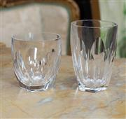 Sale 8746 - Lot 1096 - Thirteen Waterford Lismore Patterned, faceted crystal tumblers, H x 8.5cm, together with three taller examples H x 11cm,  some rim...