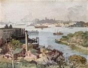 Sale 8808A - Lot 5005 - Arthur DAuvergne Boxall (1895 - 1944) - Harbour Views, 1926 25 x 32cm